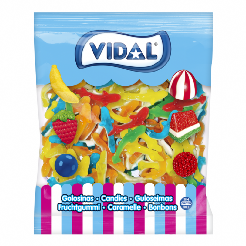 VIDAL ASSORTED COLOURS SHARKS 1KG